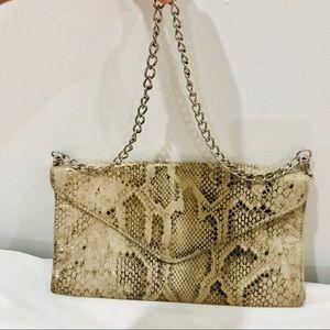 Mossimo Snake Skin Clutch Purse Bag